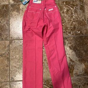 90s vintage hot pink wrangler jeans